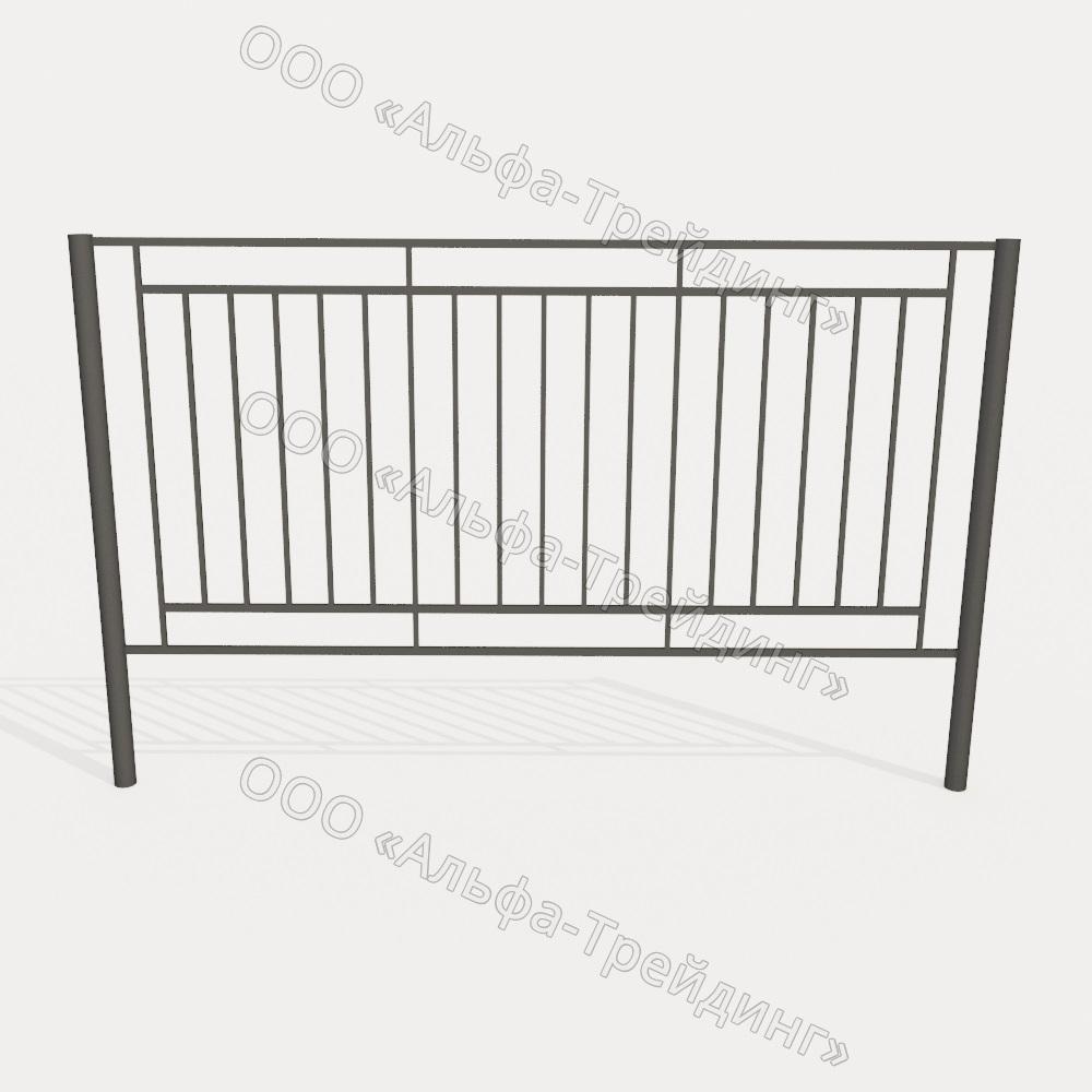 Забор из профильной трубы №13