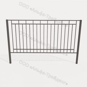 Забор из профильной трубы №14