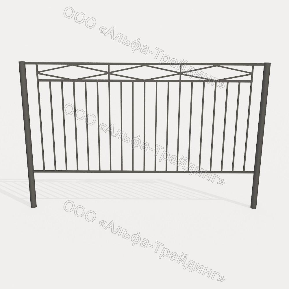 Забор из профильной трубы №15