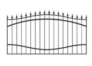 Забор из профильной трубы №5