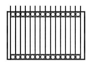 Забор из профильной трубы №8