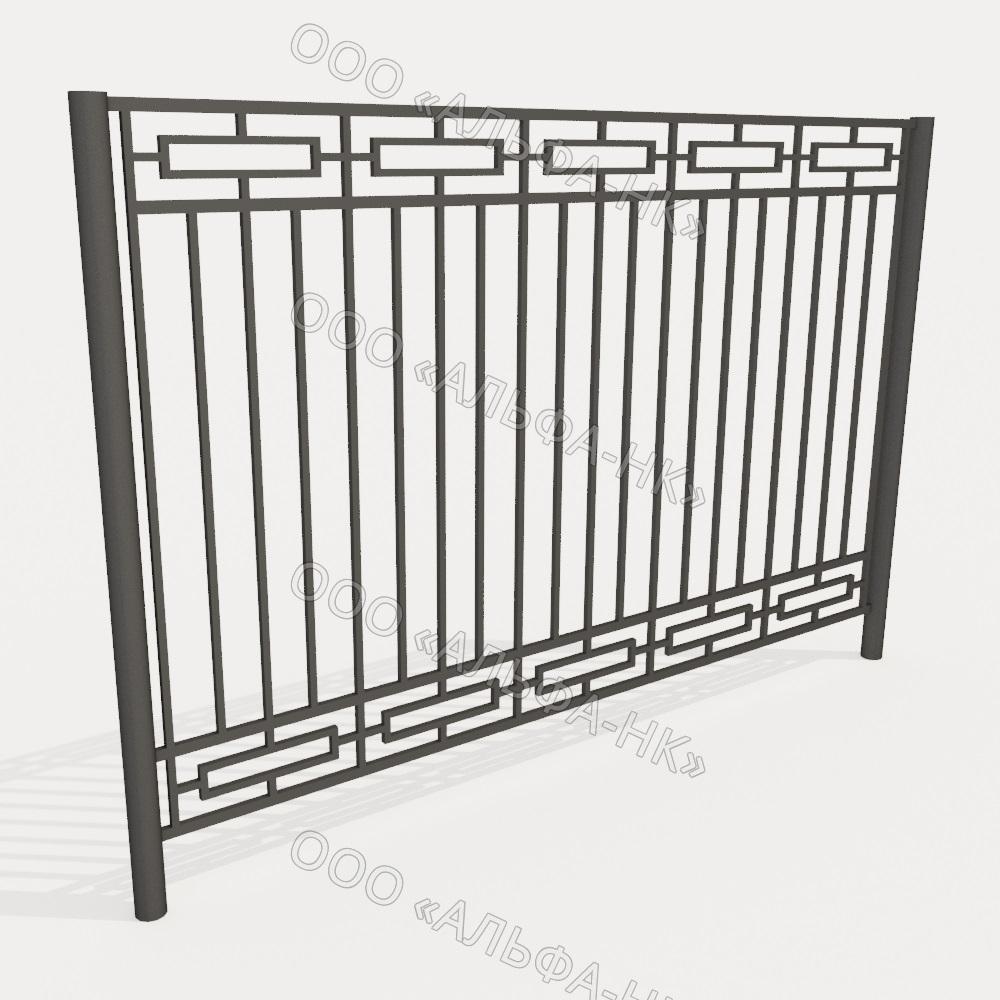 Забор из профильной трубы №9